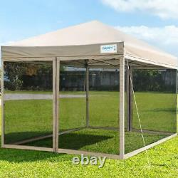 Quictent Outdoor Party Tent Pop Up Gazebo Canopy Shade Mesh Screen House -3 Size