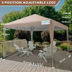 Quictent Outdoor Pop Up Canopy 8'x8' Wedding Tent Patio Gazebo Party Shelter US