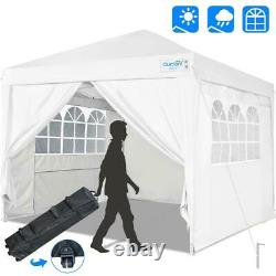 Quictent Outdoor White 10'x10' EZ Pop Up Canopy Folding Gazebo Party Tent Shade