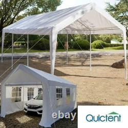 Quictent Outdoor White 10X20 Carport Gazebo Canopy Car Shelter Garage Party Tent