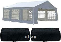 Quictent White 20x20 Heavy Duty Outdoor Gazebo Canopy Party Wedding Tent Shelter