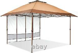 Suntime Pop Up Canopy Outdoor Portable Party Wedding Tent with One Sidewall