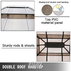 VEVOR 10x12ft Hardtop Gazebo Canopy Party Mosquito Net Party Tent Outdoor Canopy