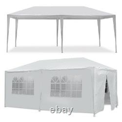Wedding Party Tent Outdoor Camping 10'x20' With 6 Sidewalls Gazebo BBQ Canopy
