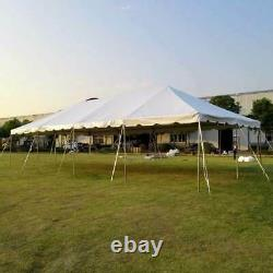 Weekender 20'x40' White PVC Tent Party Canopy West Coast Frame Outdoor Gazebo