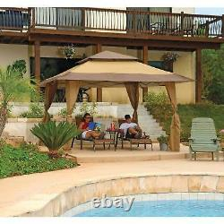 Z-Shade 13' x 13' Instant Gazebo Canopy Tent Outdoor Patio Shelter, No Sidewalls